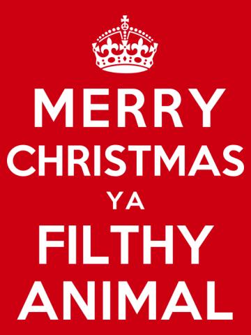 Merry Christmas Ya Filthy Animal - color