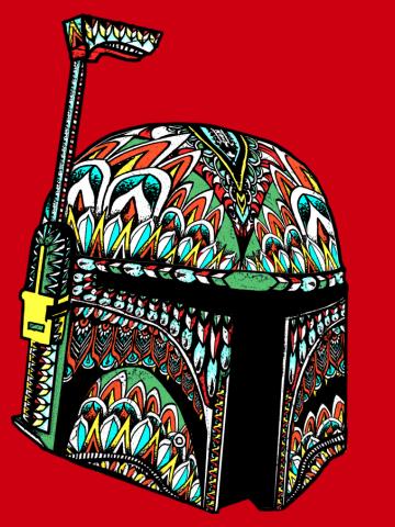 Ornate Boba Fett Helmet