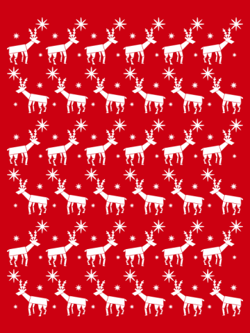 Reindeer pattern christmas jumper