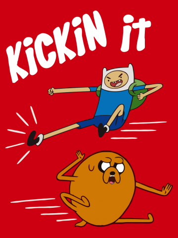Kickin it  Adventure time with Finn and Jake