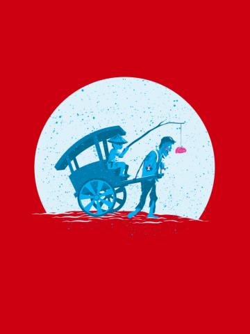 Rickshaw zombie
