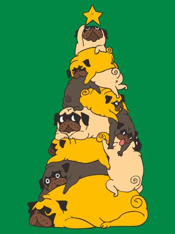 Christmas Tree Pugs