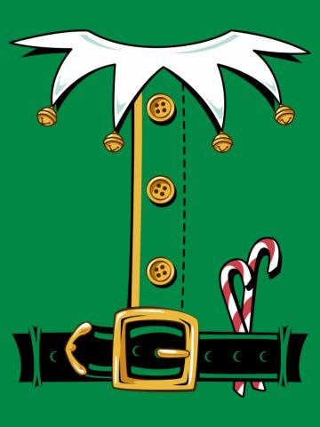 Santa's Elf Costume Shirt Christmas T-shirt