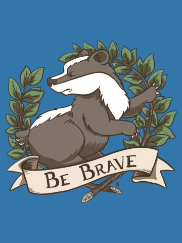 Be Brave Badger Crest