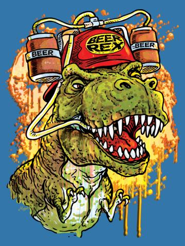 Beer Rex The Beer Loving T-Rex