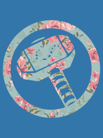 Floral Mjolnir Tank Top