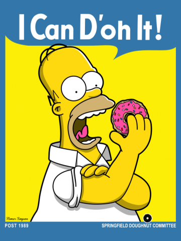 Homer can d'oh it!