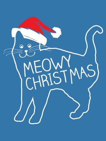 Meowy Christmas Santa Hat Shirt