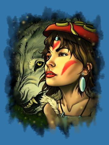 Princess Mononoke - Artistic render