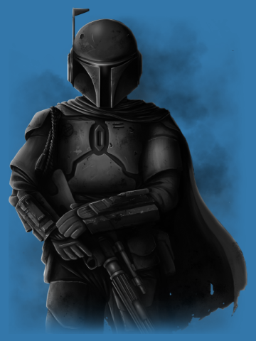 The Bounty Hunter - Artistic render