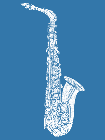 Vintage Jazz Saxophone