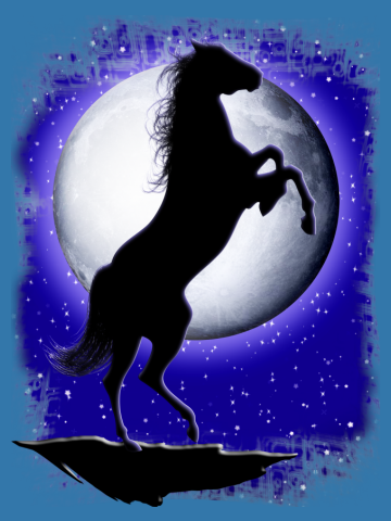 Wild Horse on Blue Moon