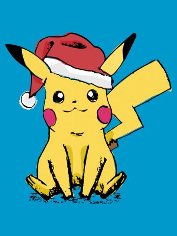 Pikachu Santa Sketch