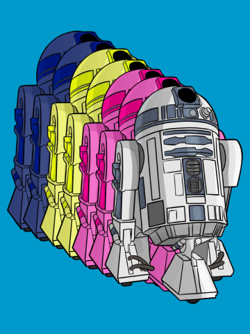 R2D2 Rainbow - Star Wars