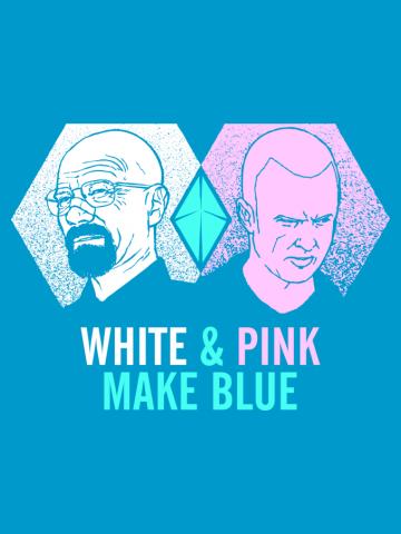 White & Pink Make Blue