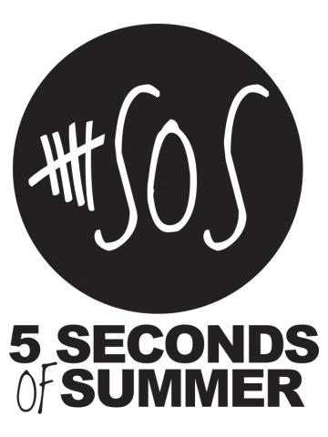 5sos 5 Seconds of Summer - black