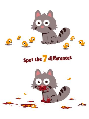 7 diferente