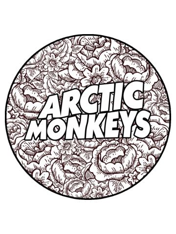 Arctic Monkeys | Flower Circle Logo