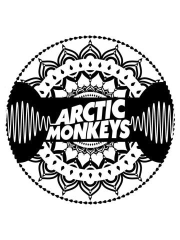 Arctic Monkeys | Mandala Circle Print