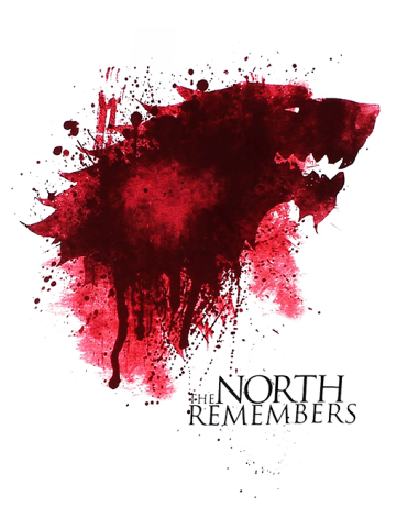 Blody Sigil North Remebers - Game of Thrones