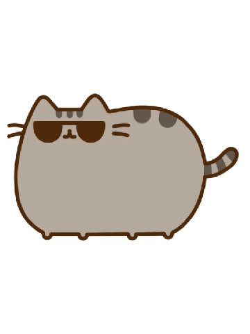 Cool pusheen with glasses