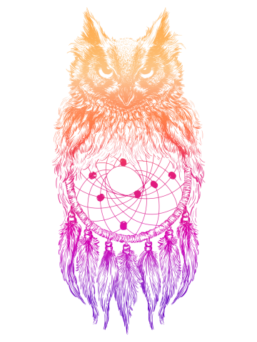 Dreamy Owl_Purple