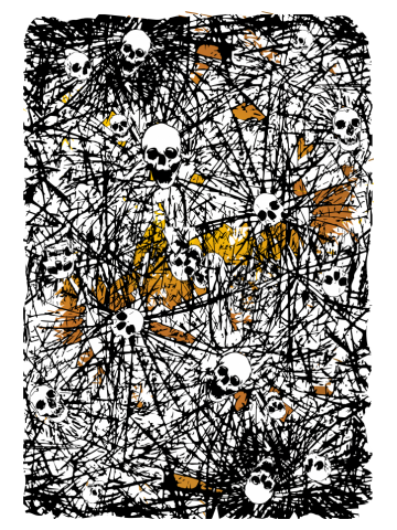 Gold rush dark art skulls and souls