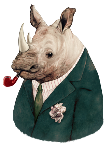Green Suited Rhino