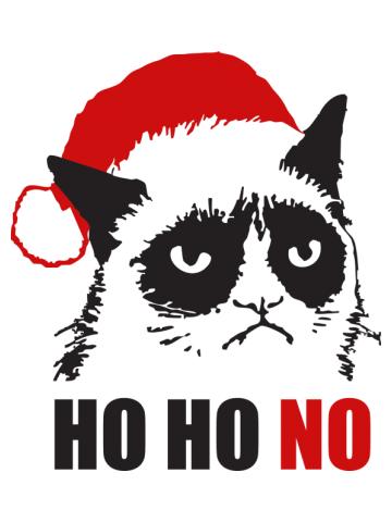 Grumpy Christmas Cat