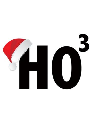 Ho Ho Ho Merry Christmas HO3 Santa Hat Shirt