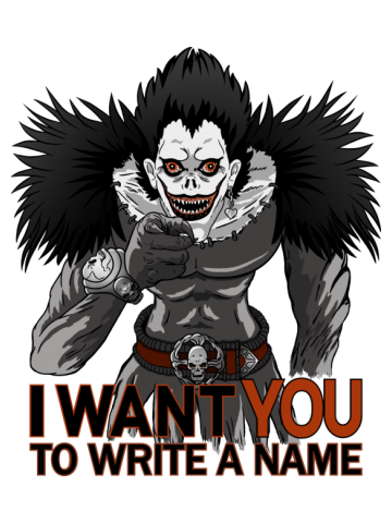 I want you to write a name - Death Note
