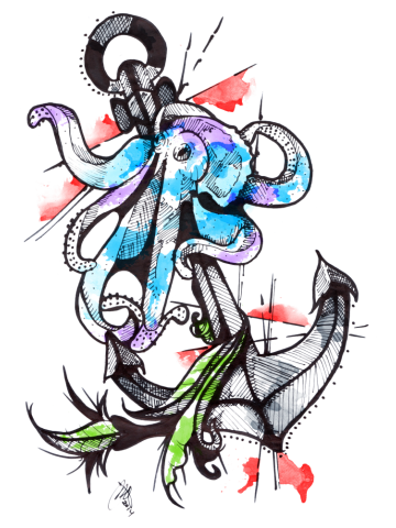 Inked Octopus