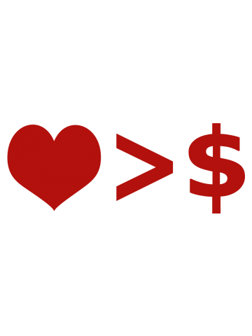 Love is more important than Money Concept Illustration