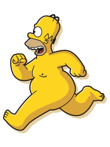 Naked Homer Simpson