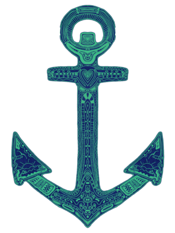 Ornate anchor.