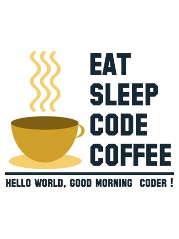 Programmer: eat sleep code coffee-hello world coder-2
