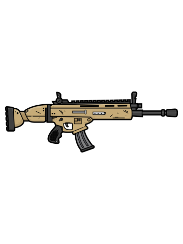 SCAR Assault Rifle Stickers