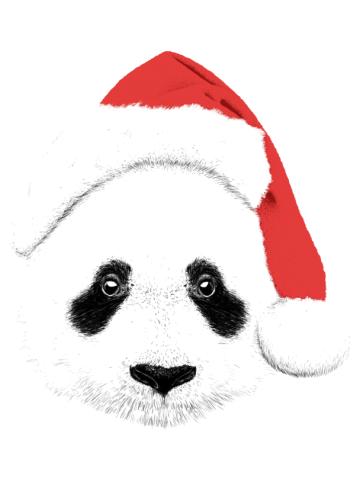 Santa Panda Face