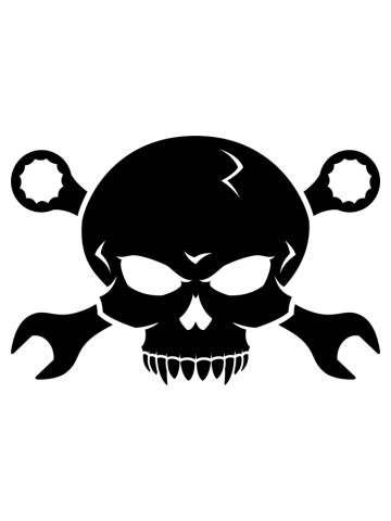 Skull 'n' Tools (black)
