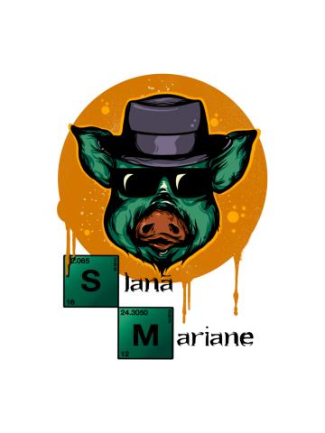 Slana Mariane Breaking Bad (culori deschise)