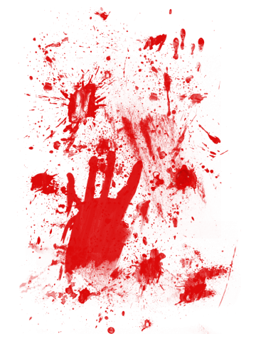 Splashes of blood / blood Smeared