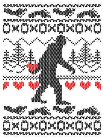 Squatchin For Love Ugly Sweater Style