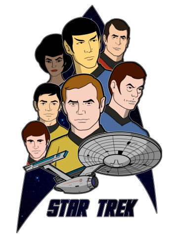 Star Trek in the style of the Animated Series