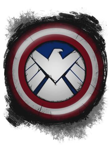 The Captain's S.H.I.E.L.D. (Messy)