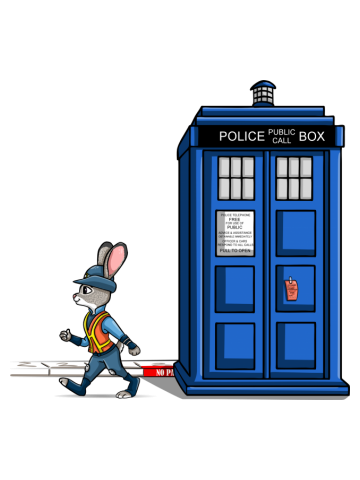 The Tardis Gets A Ticket