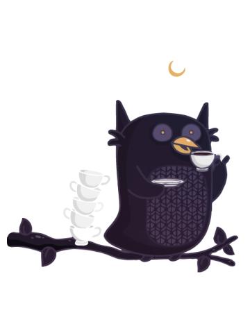 Caffeine Adict Owl