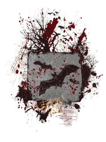 Vampire Bats - Grunge Design