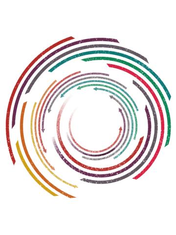 Vintage Circle Rainbow