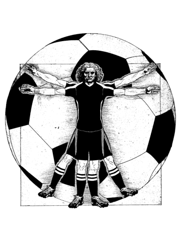 Vitruvian Soccer Player
