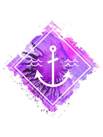 Water color Anchor Splatter
